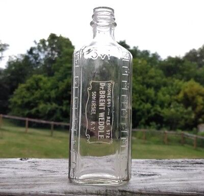Antique Somerset Kentucky Medicine Bottle Glass Pharmacy Druggist KY Medical