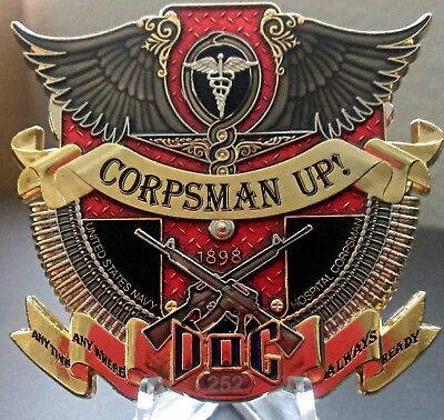 CORPSMAN UP! Chief Petty Officer (CPO) Challenge coin