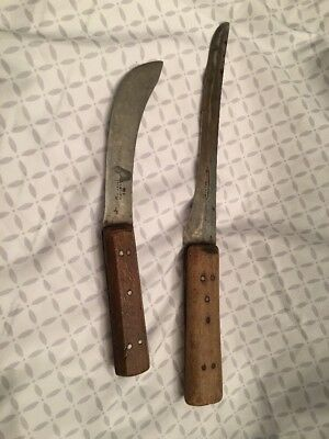 Antique Sheffield (2) Pc. Knife Lot I. Wilson  Eng. 19th C