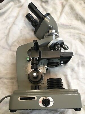 Bristolscope Bristoline Scientific Laboratory Binocular Microscope Medical