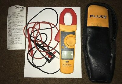 FLUKE 335 - TRUE RMS CLAMP METER w/ LEADS AND CASE