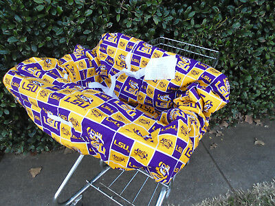 LSU print shopping cart cover/high cover-handmade