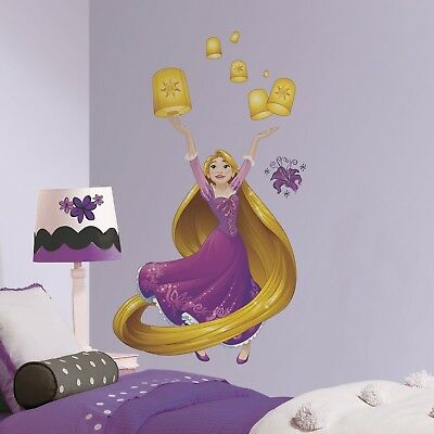 Disney Princess Rapunzel Giant Sparkling Wall Decals Room Decor Stickers Tangled