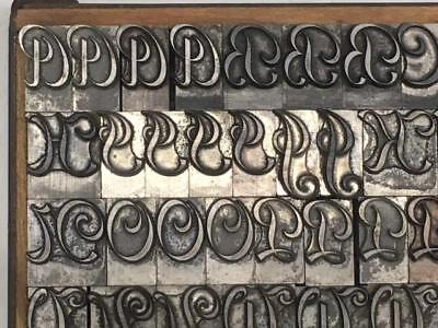 48 Point Inland French Script Inland Type Foundry Letterpress Type
