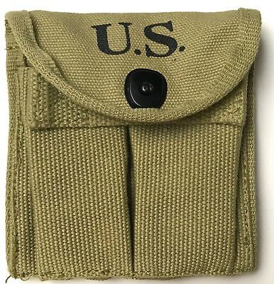 Wwii Us M1 Carbine Rifle 15Rd Butt Stock Ammo Pouch-Od#3