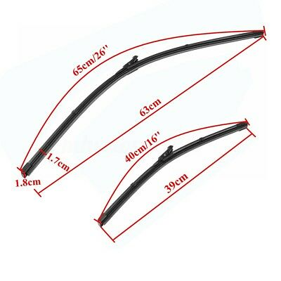 "Pair 26"" 16"" Front Wiper Blades for Fiat Punto 2005-2015 / VAUXHALL CORSA"