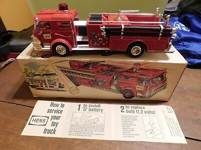 -VINTAGE- 1970 Hess Fire Truck with Box and Battery Paperwork (Hong Kong)