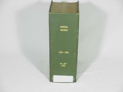 1955 Hospital SURGICAL REPORTS Pathology Findings Medical Book Halloween