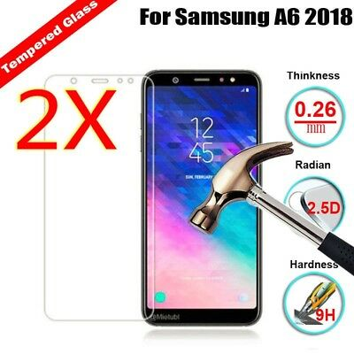 Tempered Glass Screen Protector- Samsung Galaxy J4 J6 J8  A9 A6 /A6 Plus 2018 dc