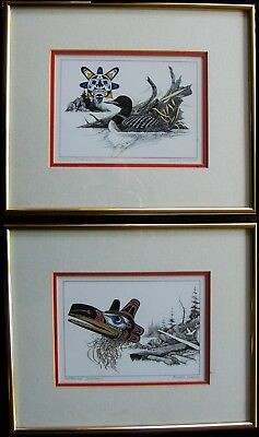 (2) Canada Aboriginal Theme Prof. Framed Signed Prints  By Artist Michael Duncan