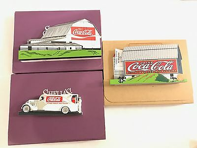 Lot Of 3 Shelia's Collectibles Coca Cola Artists Proof Signed Numbered Pieces