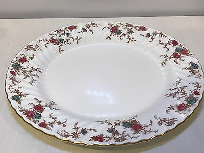 12 1/2 Round Chop/Serving Platter Minton Ancestral S376 Wreath England China