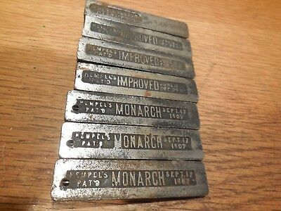 7 Hempel's Printing Wedges Quoins  Monarch & Improved 1 is a Union Lockable