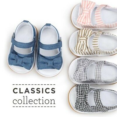 Newborn Baby Bow Shoes Sandal Toddler Infant Girls Soft Sole Cotton Shoes 0-18M