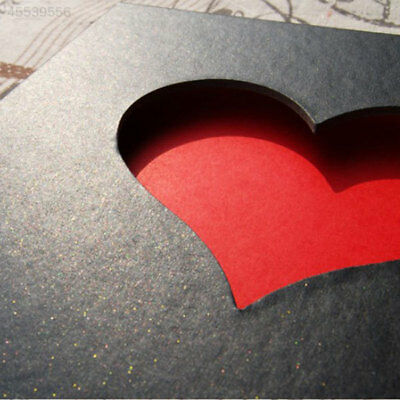 Hollowed Heart Love Shape Photo Album Scrapbook Sticker DIY Memory Anniversary
