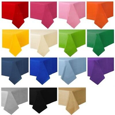 Rectangle Solid Colour Table Covers Plastic Tablecloth Wedding Party Table Cloth