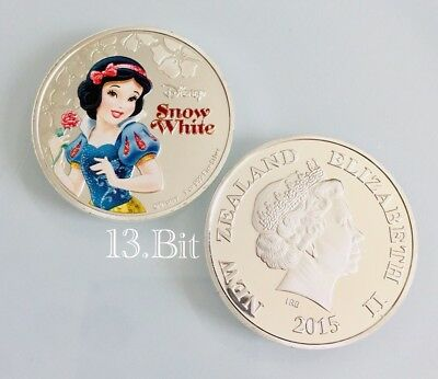 Disney Silver Plated Snow White New Zealand Coin Replica