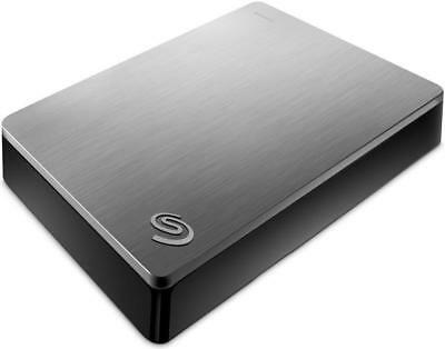 "Seagate Backup Plus 5TB 2.5"" External Hard Drive HDD Silver Portable USB 3.0"
