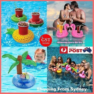 Inflatable Floating Drink Cup Can Beer Holder Swimming Pool Bath