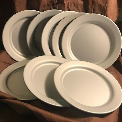 "9.5"" Metal Plate Set 8 Piece Lunch U.S. Navy Nash Vintage Dinnerware Silver Camp"