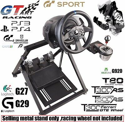 """NEW """"X"""" FRAME GT ART Racing Simulator Steering Wheel Stand  G29 G920 T300RS T150"""