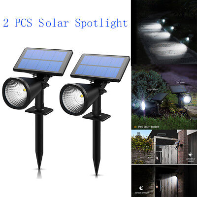 Solar Spot Light Garden Outdoor Ground Lawn Lamp Landscape Spotlight Waterproof
