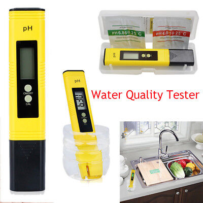 Electric Digital PH Meter Tester Pocket Water Hydroponics Pen Aquarium Pool Test