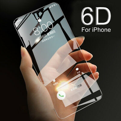 6D Full Cover Edge Curved Tempered Glass iPhone 6/7/8/X Screen Protector Hot New