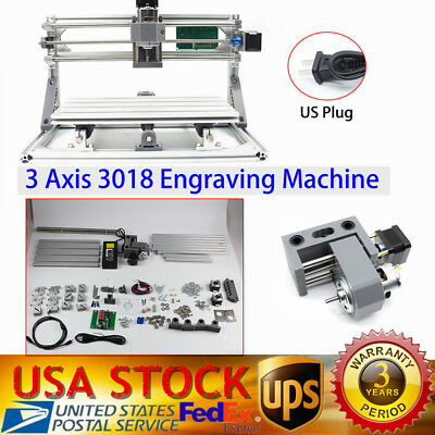 3 Axis Mini CNC Router Milling Engraving Machine Printer 3018 GRBL Control NEW