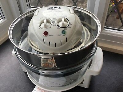 Large jml halogen oven With Cookery Book And Extender Ring