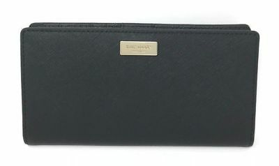 Kate Spade Laurel Way Stacy Clutch Wallet Black Leather WLRU2673 $119