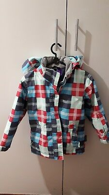 Crane Snow jacket girl size 6 Winter check VGC pre owned