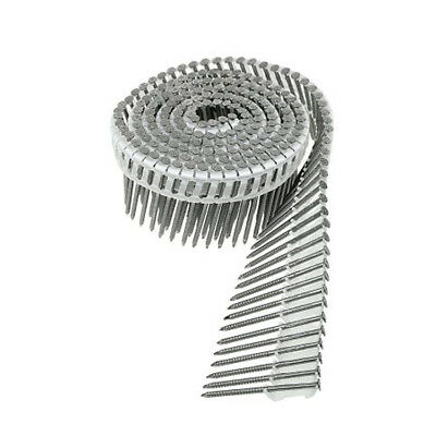 """T13A200IPBP 2"""" x .095 Stainless Ring-Shank Coil Nails Plastic Collation 600ct"""