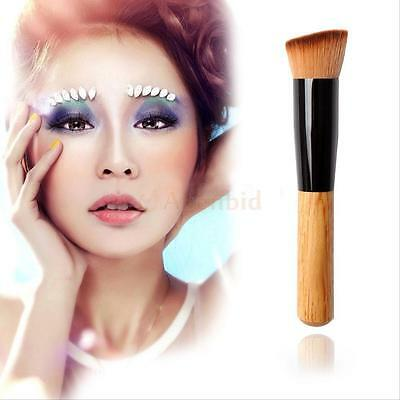 Pro Angled Flat Top Buffer Brush Makeup Cosmetic Face Base Liquid Foundation New