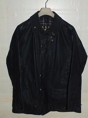 Barbour beaufort jacket giacca  waxed cotton  blue + pin  c48-122 xl