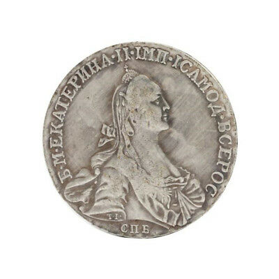 1766 Russian Rouble Russian Ruler Catherine II Collection Commemorative Coin Art