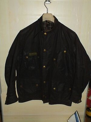 barbour international jacket waxed cotton + inner pile  100%authentic c42/107 L