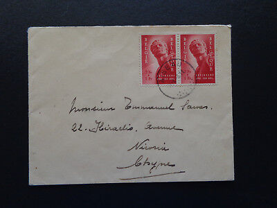Belgium-Cyprus  Rare  Scarce Pair On Cover  Stamps 10/5/1954