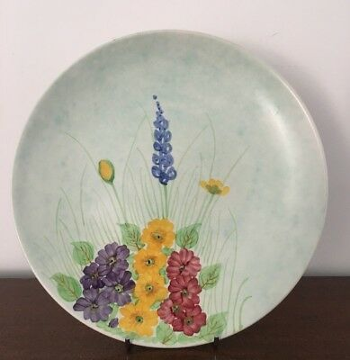 E Radford English Pottery Art Deco Plate Floral Lupins? Wg Pattern Hand Painted
