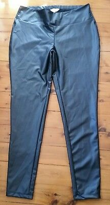 As new! Ripe Maternity Pants Size Large Shiny Wet look