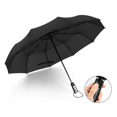 Folding Rain Parasol Umbrella Windproof Anti-UV Compact Open&Close Automatic AU