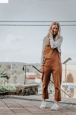 Frankie and Co womens overalls- Rust size 10
