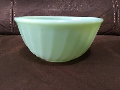 "RARE Fire King Swirl Jadeite 5 3/4"" Mixing Bowl Oven Ware"