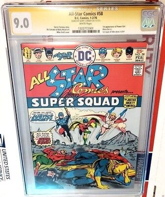 All-Star Comics #58 CGC 9.0 SS Gerry Conway 1st app Power Girl (White Page)
