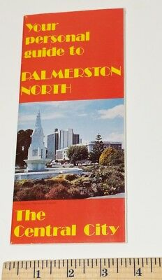 Vtg Your Personal Guide to Palmerston North Central City New Zealand Brochure