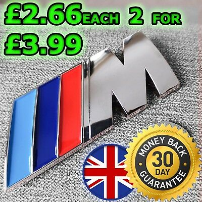 Bmw M Power M Sport Boot Badge Rear Emblem Sticker Series 2 3 4 5 6 7 X3 X5 X6 !
