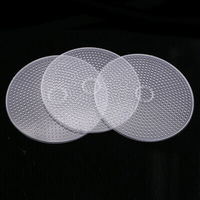 3x Large Round Clear Perler Fuse Beads Pegboard for Kids Craft Toys 15cm