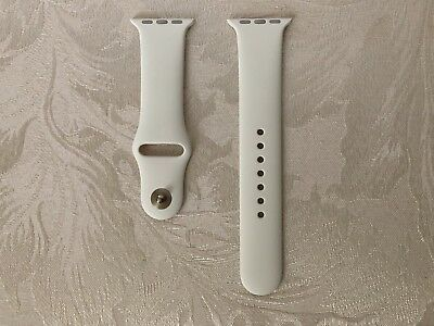 NEW Authentic/Genuine Antique White Apple Watch Sport Band 38mm M/L Gold Pin
