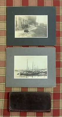 FRONT STREET PERRY MICH., & MICHIGAN Cabinet Photos, + Civil War era wallet