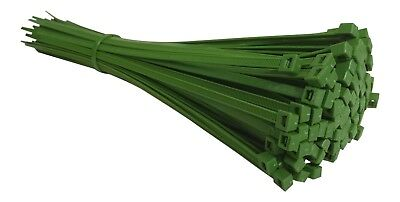 100 GREEN CABLE TIES 300mm X 4.8mm - UK Manufactured - DISCOUNTED